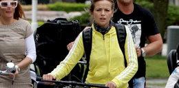 Przybylska na rowerze. Ależ ona ma... figurę! FOTO
