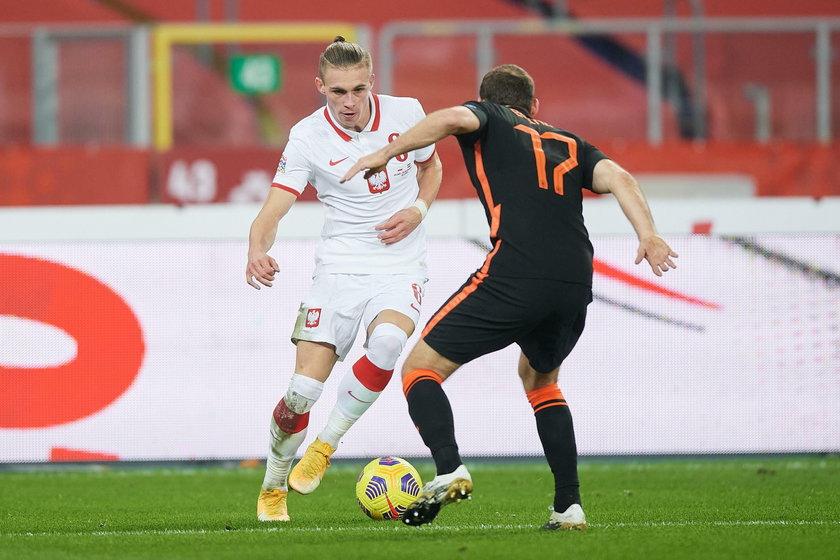 Płacheta zadebiutował 11 listopada w meczu z Ukrainą i miał asystę przy golu Jakuba Modera (21.l.).