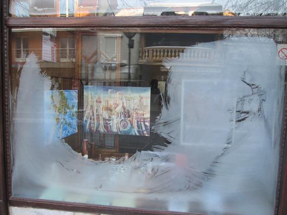 Mraz na prozoru za dobro jutro