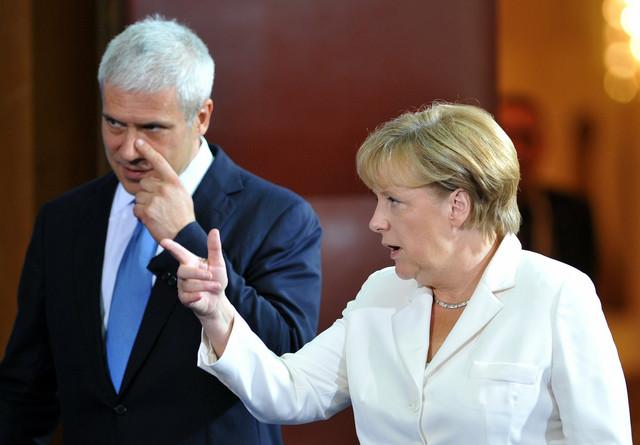 Jasne poruke: Nemačka kancelarka Angela Merkel i predsednik Srbije Boris Tadić