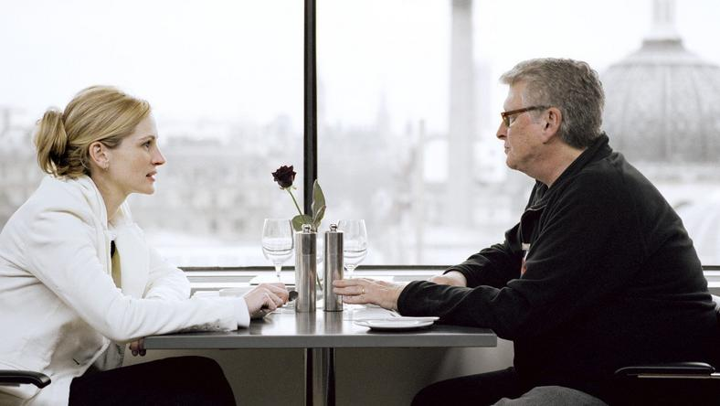 Mike Nichols i Julia Roberts na planie Closer
