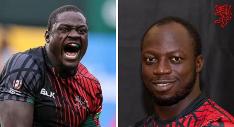 Kenya 7s duo Alvin Otieno (left) and Jeff Oluoch (right) named in World Rugby 7s Dream Team for second week in a row.