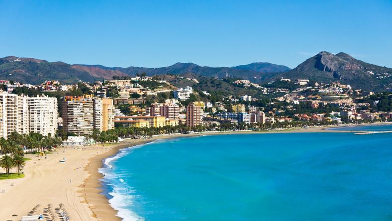 Plaża w Maladze, Hiszpania
