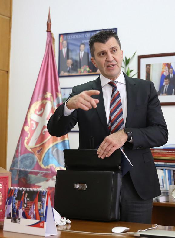 Ministar rada Zoran Đorđević