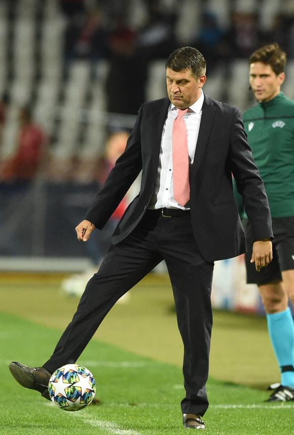 Vladan Milojević na meču FK Crvena zvezda - Totenhem