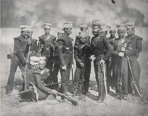 Bataljon Gurka vojnika iz 1857.