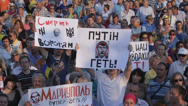 Demonstacje w Mariupolu