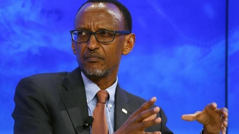 "Paul Kagame, President of Rwanda attends the session ""The Transformation of Tomorrow"" during the annual meeting of the World Economic Forum (WEF) in Davos, Switzerland January 20, 2016."