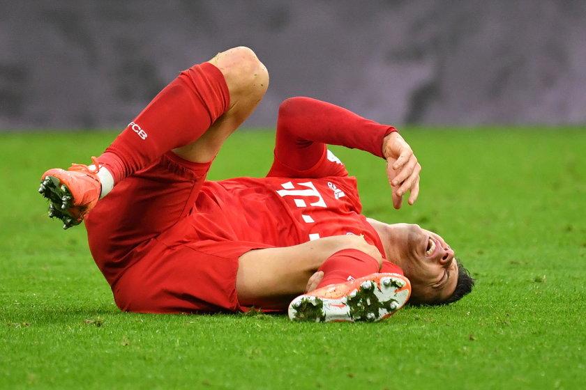 Robert Lewandowski doznałkontuzji