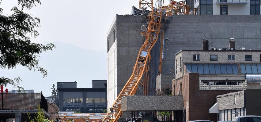 Zawalenie dźwigu na placu budowy. Policja mówi o wielu ofiarach śmiertelnych