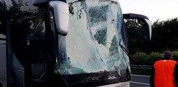 Polski autokar zjechał z drogi. 4 osoby ranne