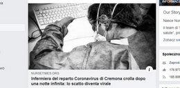 Koronawirus na świecie. Poruszające zdjęcie