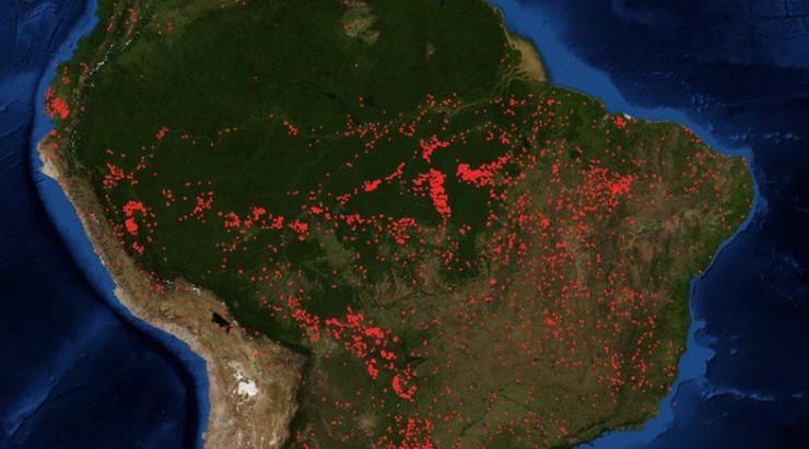 Amazonija, požari, Brazil