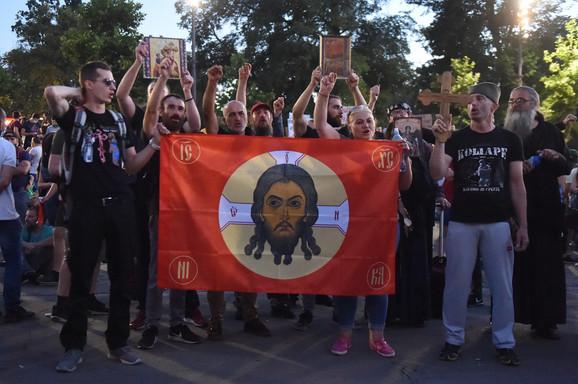 Protest 3 dan, Beograd