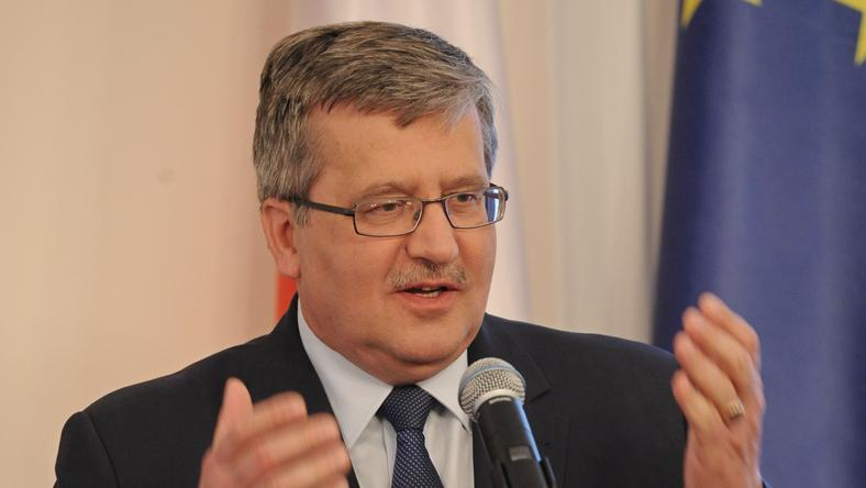Prezydent Bronisław Komorowski,fot.PAP/Andrzej Hrechorowicz