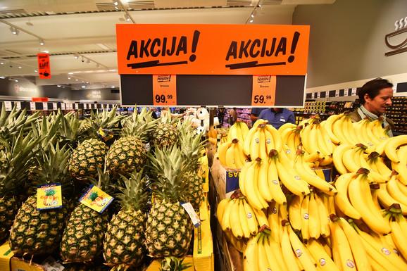 Veliko interesovanje za banane i ananas