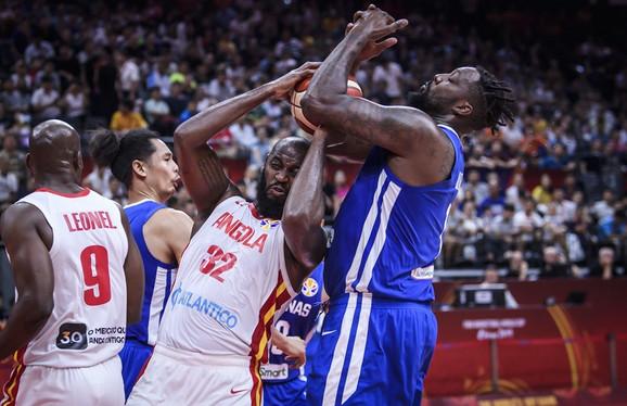 Detalj sa meča košarkaških reprezentacija Angole i Filipina