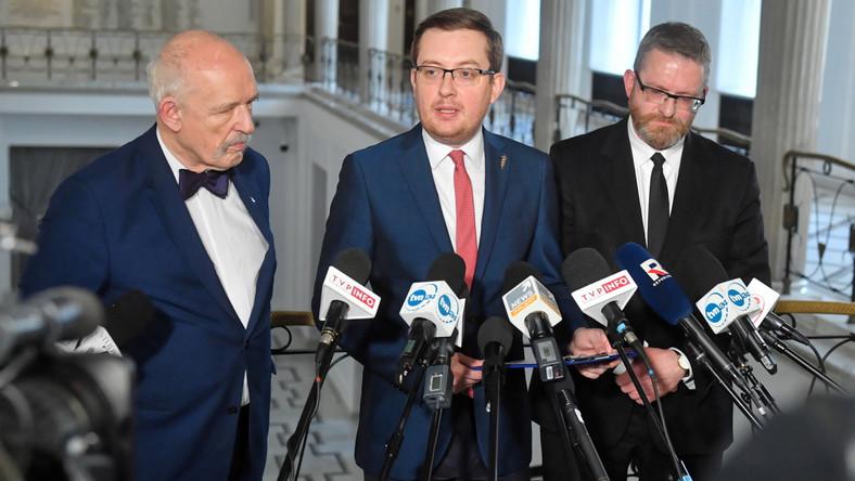 Janusz Korwin-Mikke, Robert Winnicki, Grzegorz Braun
