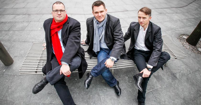 Założyciele Motabi: Rafał Hryniów, Piotr Śmiałek i Robert Tomaszewski