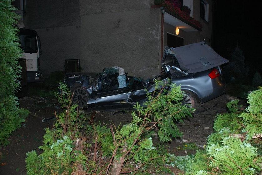 Wypadek na drodze w Chwostku