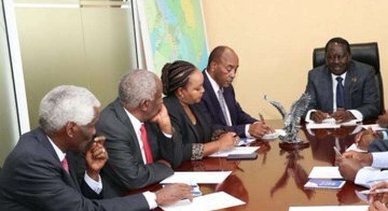 Raila Odinga meets Mt Kenya governors