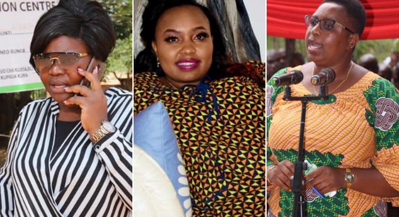 Homa Bay Woman Representative Gladys Wanga, Nominated Senator Millicent Omanga and Malindi MP Aisha Jumwa