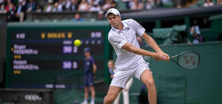 Wielki mecz Huberta Hurkacza na Wimbledonie. Pokonał słynnego Rogera Federera! Polak w półfinale