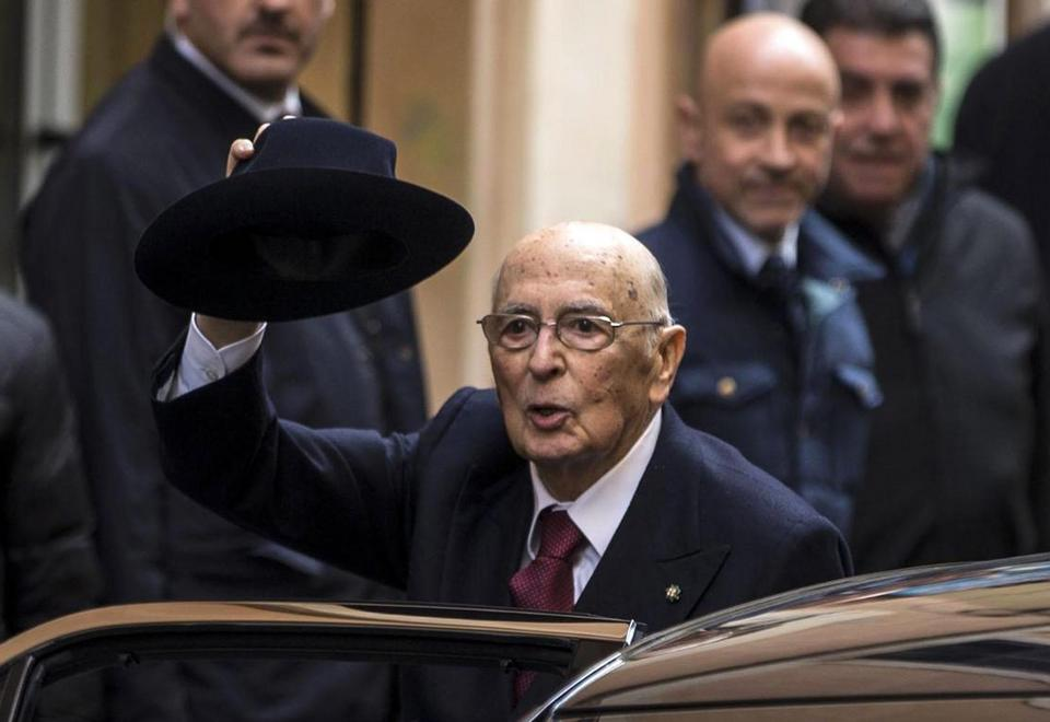 Prezydent Włoch Giorgio Napolitano złożył dymisję