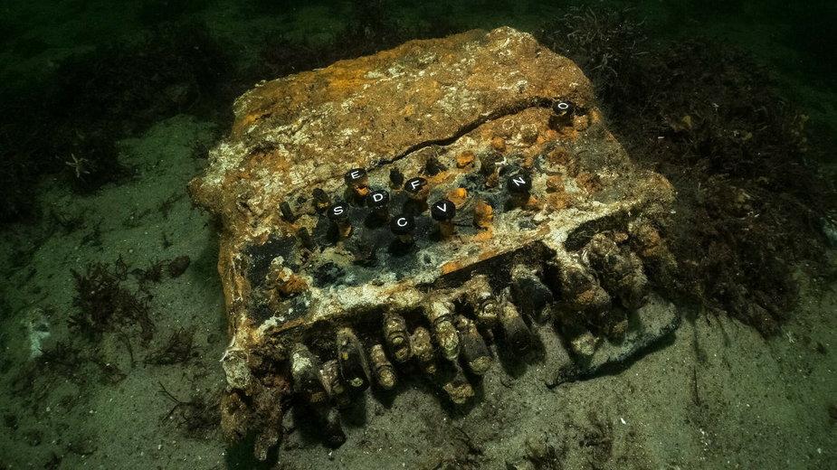 Znaleziona w Morzu Bałtyckim maszyna szyfrująca Enigma