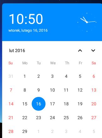 Kalendarz, fot. własne