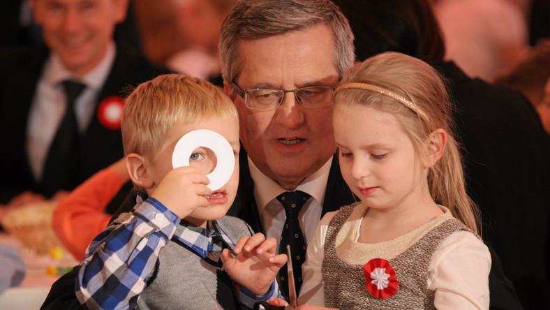 Najpierw w Pałacu Prezydenckim, głowa państwa spotkała się z polskimi olimpijczykami i ich dziećmi