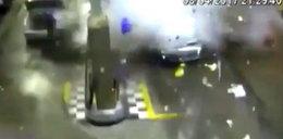 Auto na gaz wybuchło na stacji. Wszystko nagrała kamera