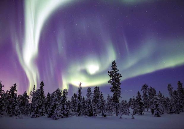 Finlandia, zorza polarna
