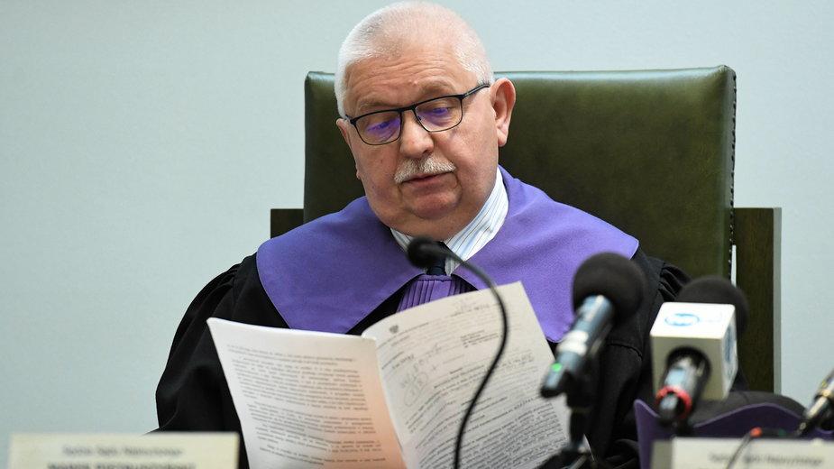 Sędzia SN Marek Pietruszyński podczas posiedzenia Izby Karnej Sądu Najwyższego. Zdjęcie ze stycznia 2020 r.