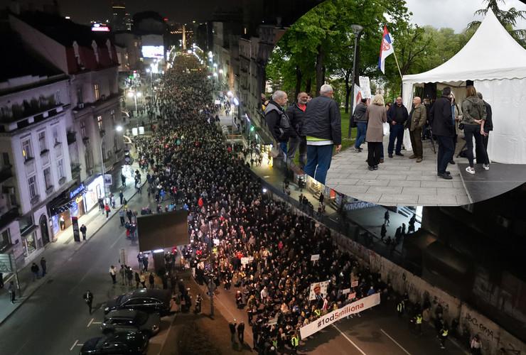 Protest foto Mladen Surjanac i S Krstic