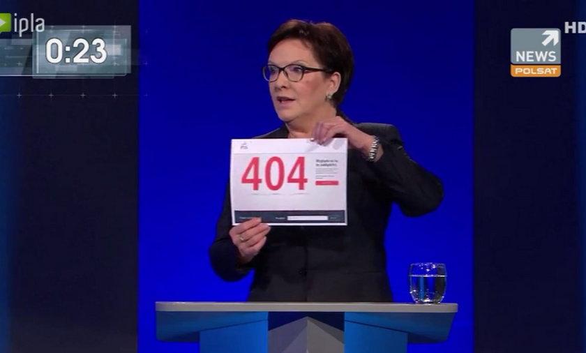 Debata Ewa Kopacz  Beata Szydło