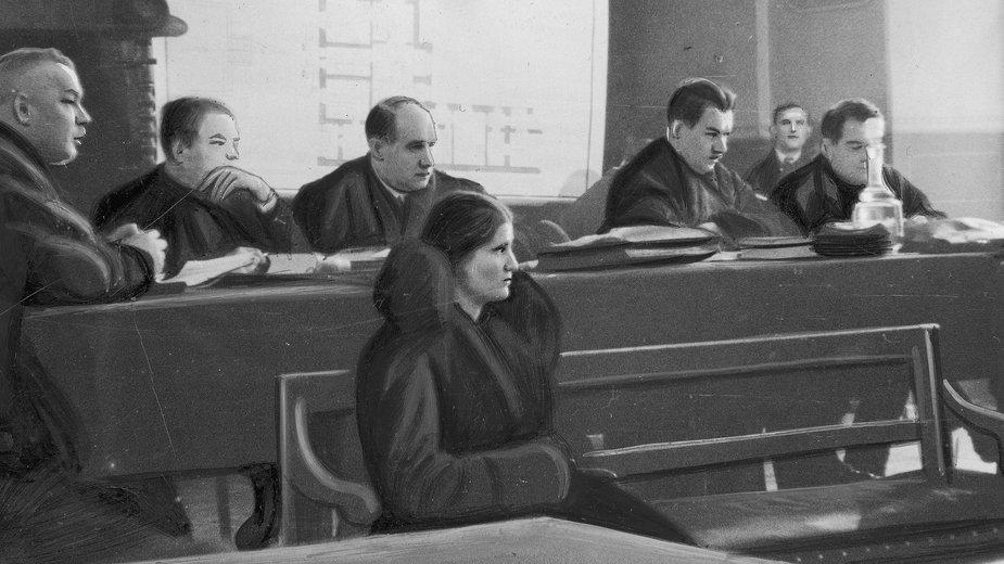 Proces Rity Gorgonowej oskarżonej o zabójstwo Elżbiety (Lusi) Zaremby córki lwowskiego architekta Henryka Zaremby przed Sądem Okręgowym w Krakowie