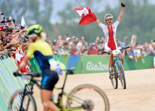 Rio 2016: Maja Włoszczowska zdobyła srebrny medal w kolarstwie górskim