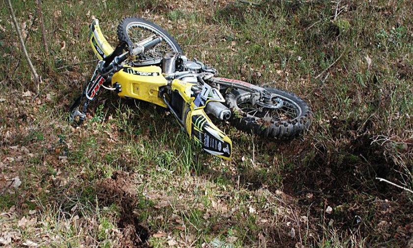 Obok ofiary znaleziono jego motockl