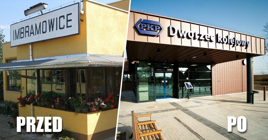 Dworzec kolejowy w Ibramowicach po przebudowie. Tak teraz wygląda