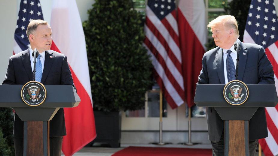Zdjęcie z wizyty prezydenta Andrzeja Dudy w Waszyngtonie w czerwcu 2020 r.
