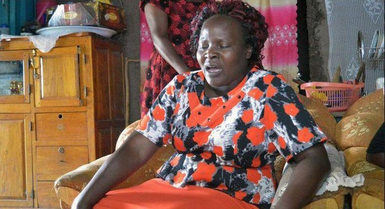 Sharon's baby burial ceremony. Sharon Otieno's mother Melida Auma fainted after being overwhelmed by emotion as the body of her daughter arrived at their homestead in Migori on Thursday for pre-burial ceremony.
