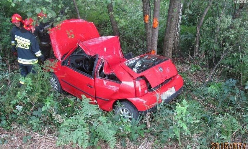 Auto zostało poważnie uszkodzone