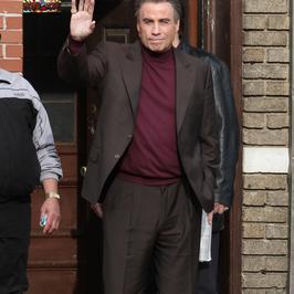 "John Travolta na planie filmu ""The Life and Death of John Gotti"""