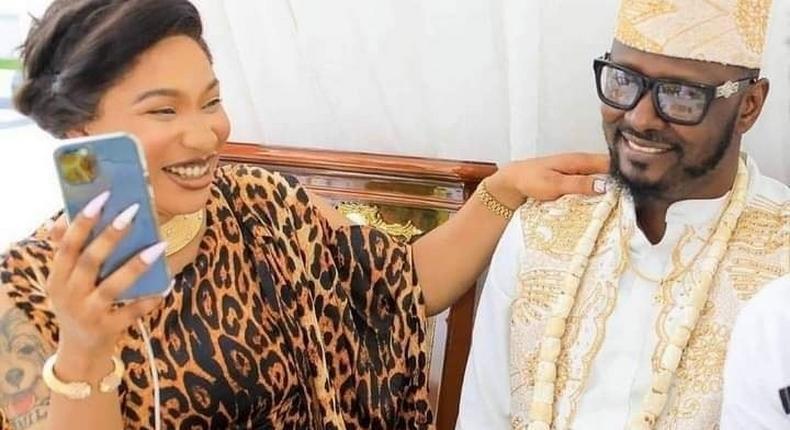 Tonto Dikeh and her ex boyfriend Prince Kpokpogri