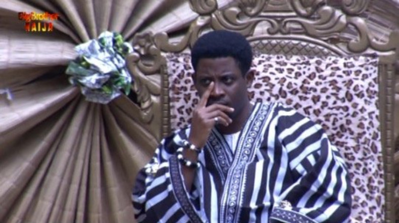 Seyi Awolowo was coronated as the Tor Tiv after emerging the Head of House twice in a row [Twitter/BBNaija]