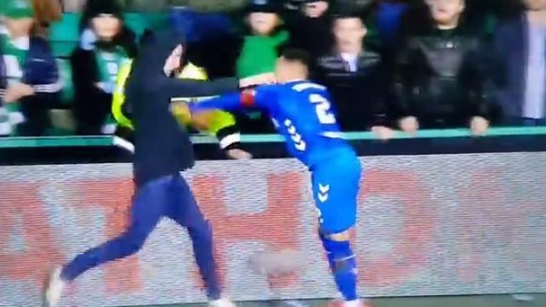 Kibic zaatakował piłkarza