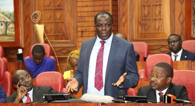 Council of Governors Chairman Wycliffe Oparanya during a recent appearance at Parliament (Twitter)