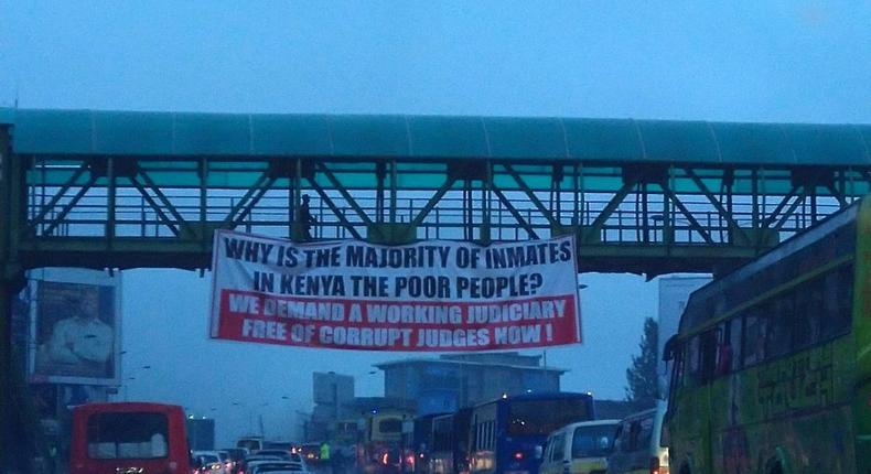 Mysterious anti-Judiciary banners erected in Nairobi at night