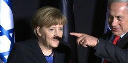 Kto przykleił Merkel wąsy?